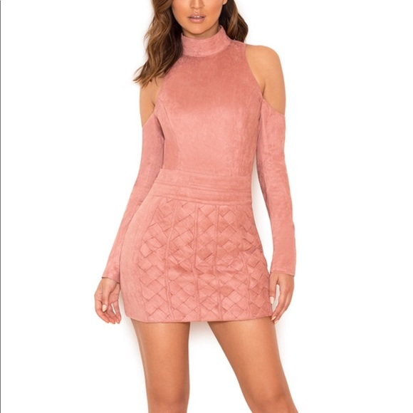 4fa53b269b Dusty pink cold shoulder body suit